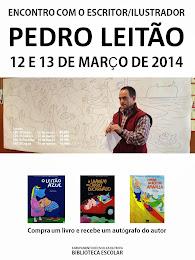 Visita do escritor/ilustrador Pedro Leitão