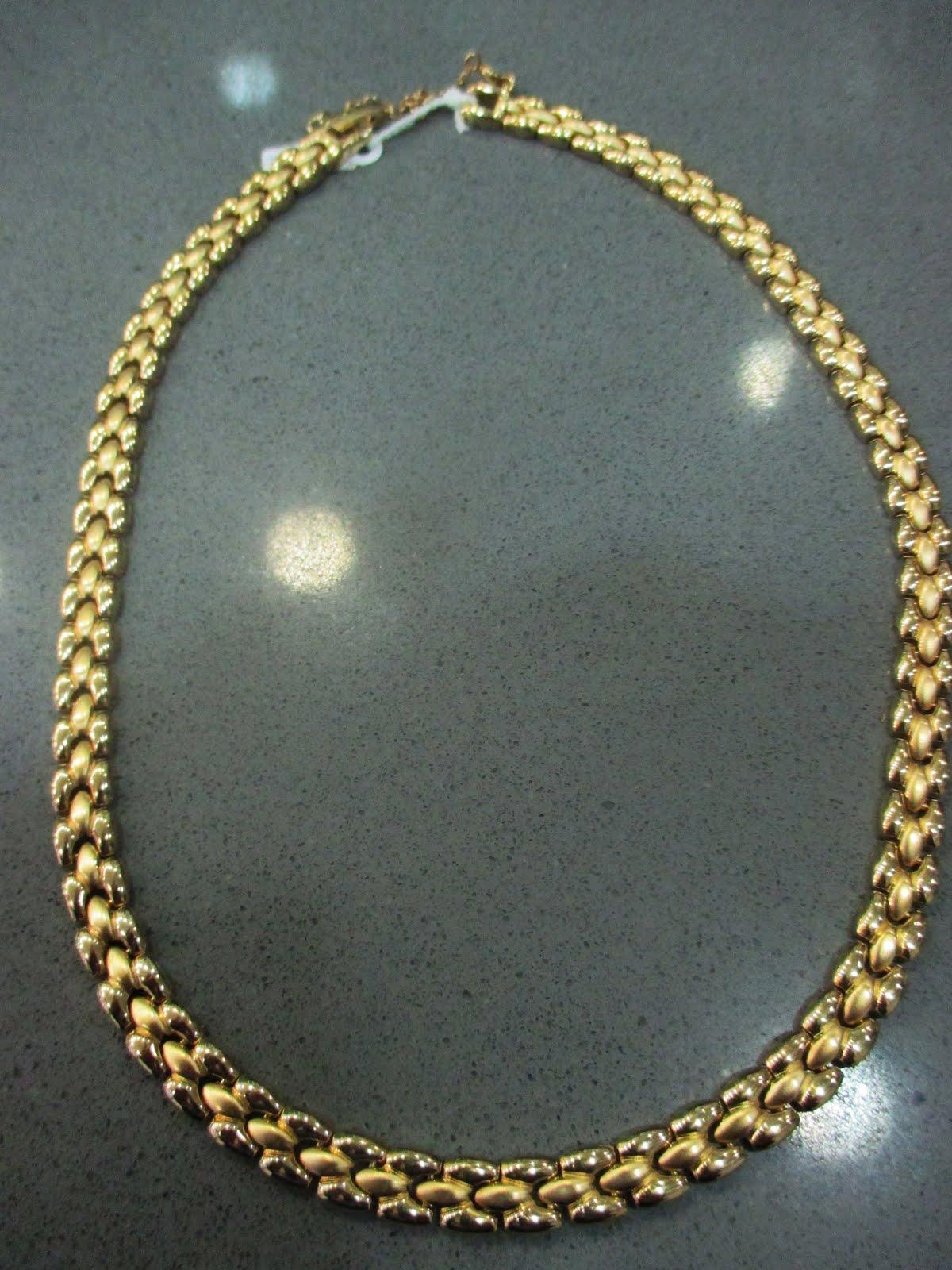 Gargantilla chapada en oro bicolor