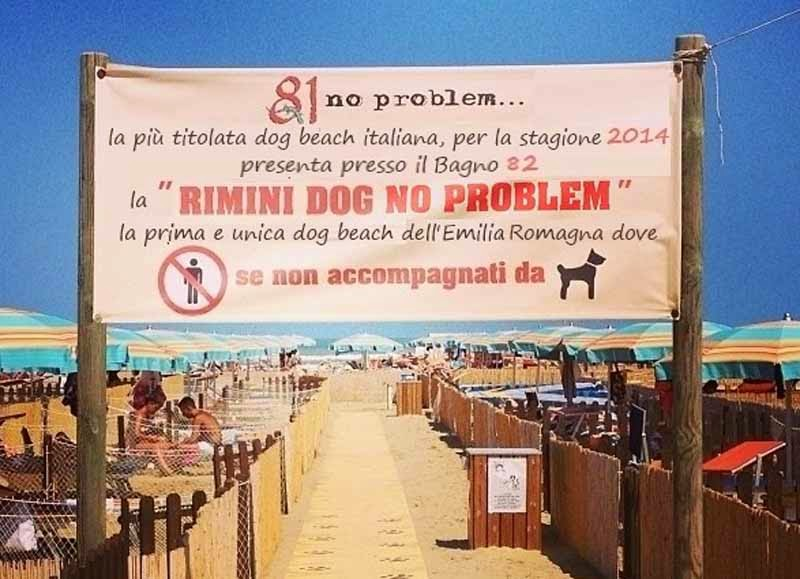 римини пляж для собак
