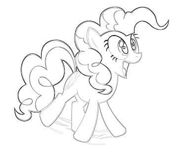 #7 Pinkie Pie Coloring Page