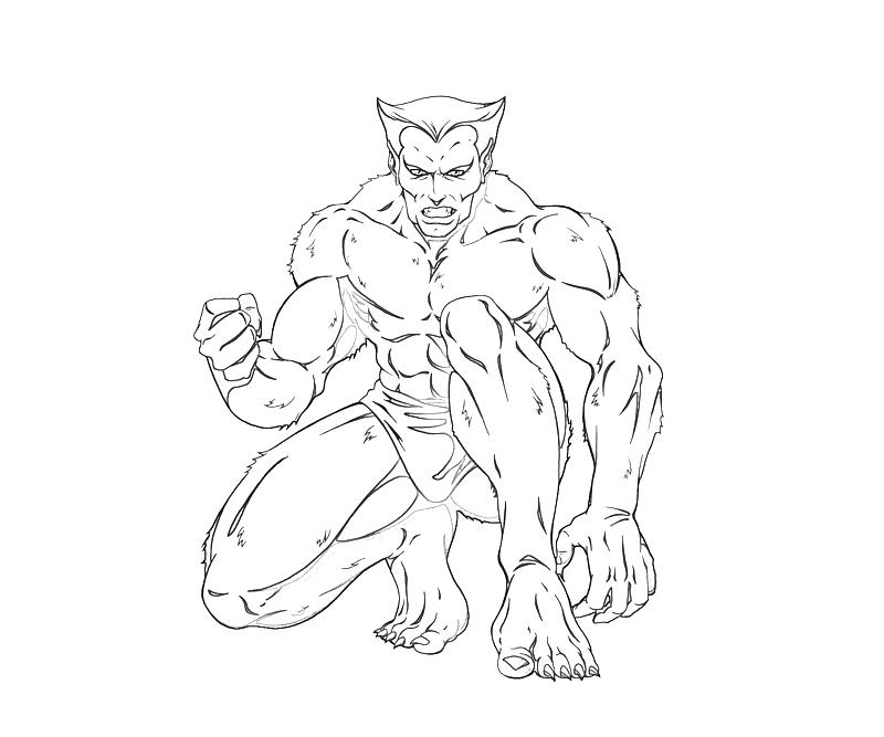 Printable Beast X Men Beast Character Coloring Pages title=