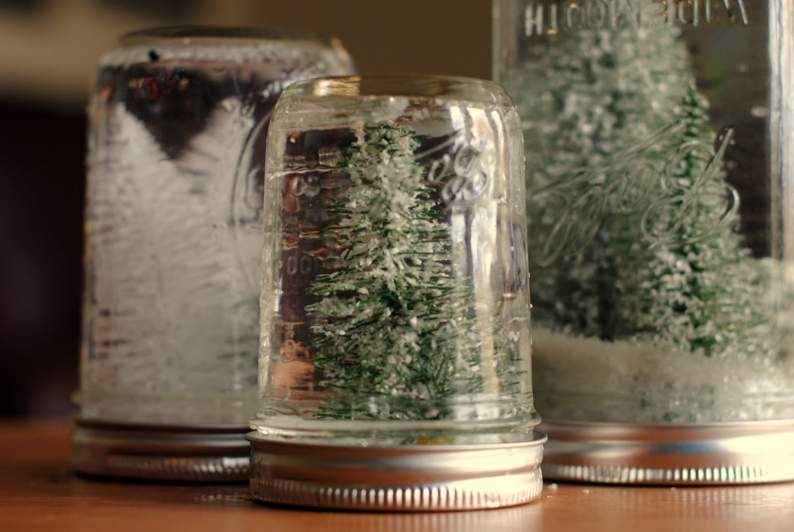 Anthro hack mason jar snow globes for Jar crafts