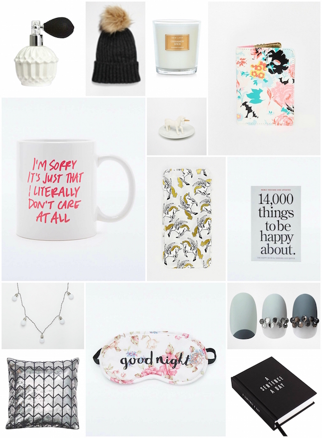 under £20, women, gift guide, Christmas, H and M, ASOS, Urban Outfitters, ban.do, unicorn, skinnydip, phone case, cushion, candle, New Look, pom pom, wish list, wishlist, lifestyle, style,
