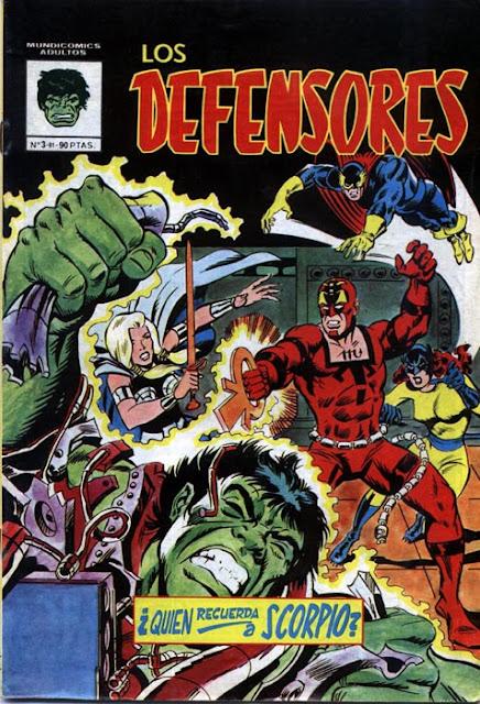 Portada de Los Defensores Mundicomics Nº 3 Ediciones Vértice