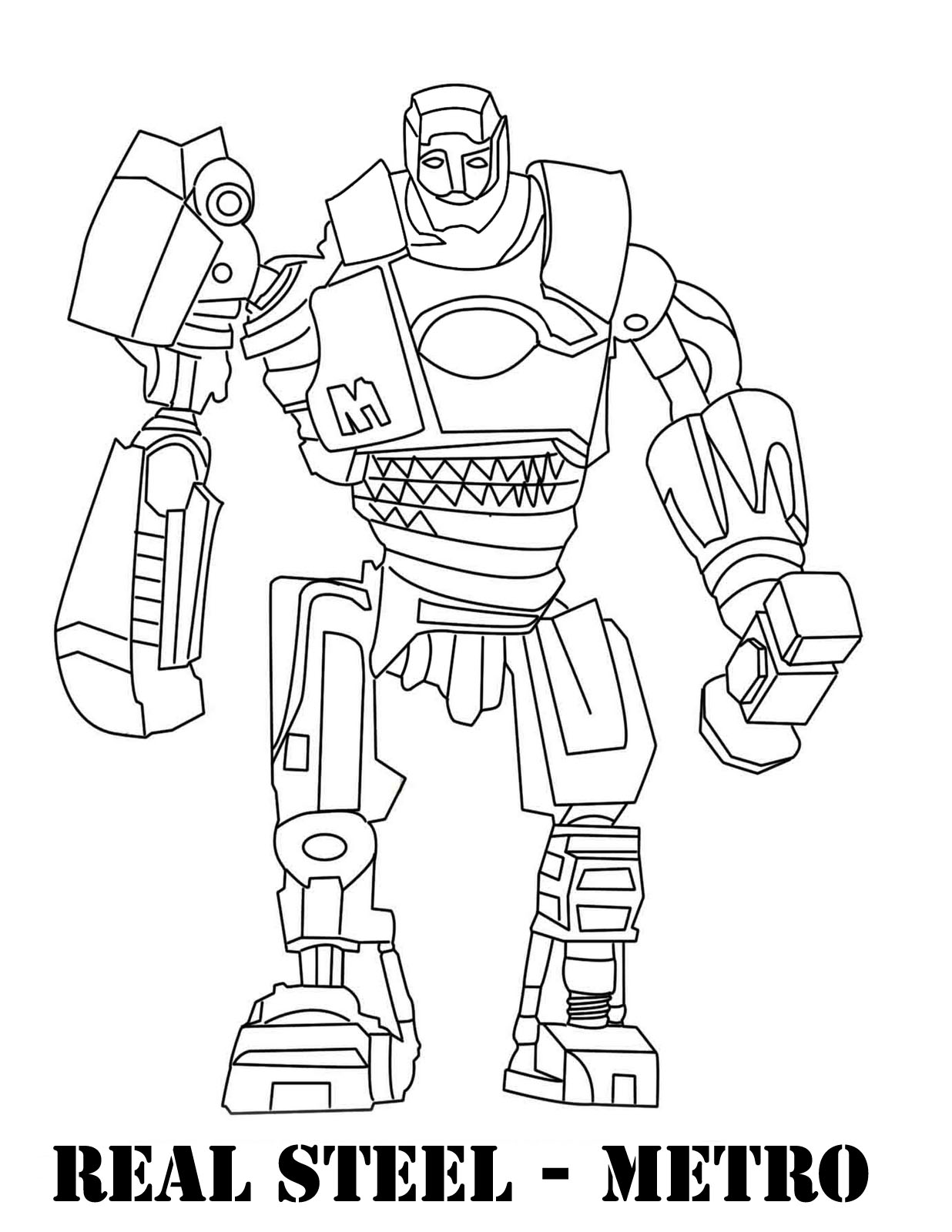 Real Steel Robots Free Coloring Pages
