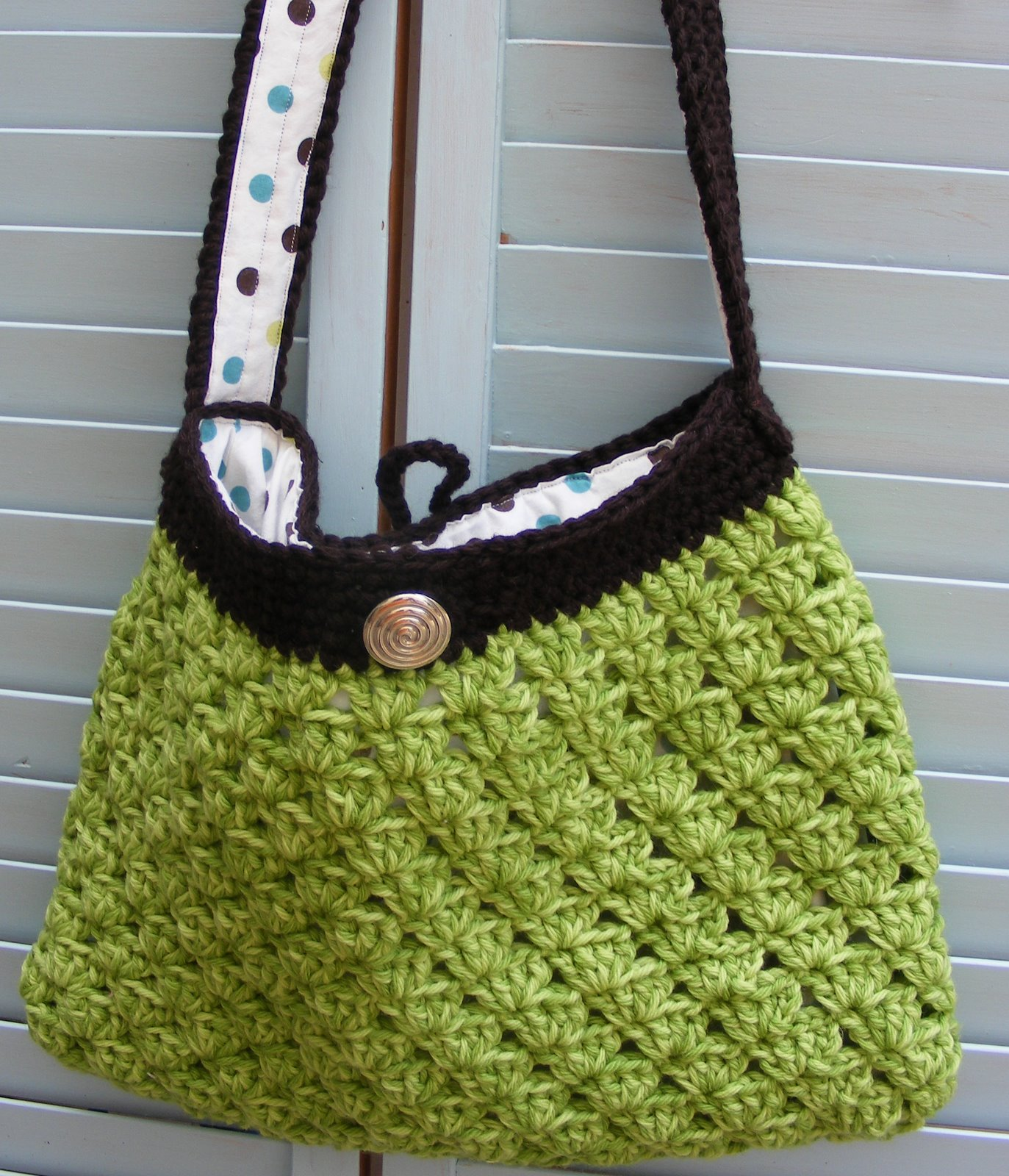 Free Crochet Patterns Purses Handbags : CROCHET HOBO BAG PATTERN - FREE PATTERNS