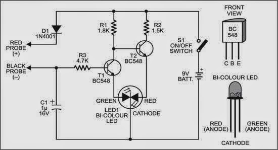 simple handy tester circuit diagram