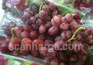 Daftar Harga Buah Anggur Terbaru