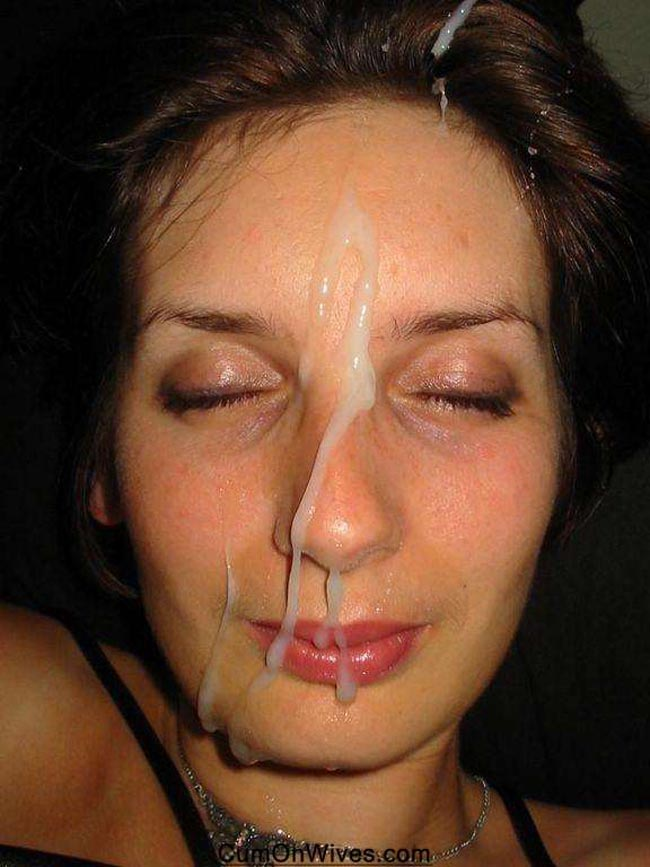 amateur wife gets a facial 345 Amateurs wife cheating blowjob pictures   she invited neighbor for a round.