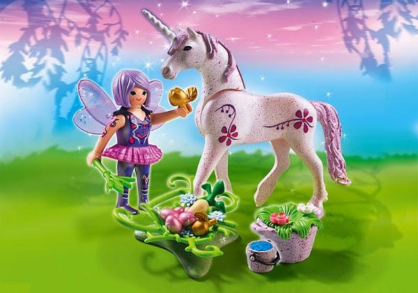 TOYS - PLAYMOBIL Fairies  5440 Hada de los alimentos con Unicornio Rocío de la mañana  Juguete Oficial | Playmobil Hadas | A partir de 4 años