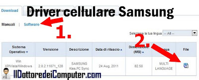 driver cellulare samsung