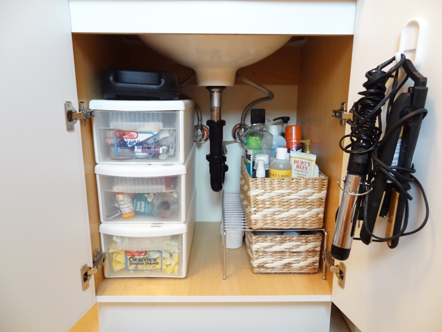 home organization tackling the bathroom cabinet revamp homegoods