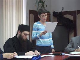 Aspect din timpul comunicării Prof. univ. dr. Maria-Magdalena Szekely, 24.II.2011...