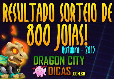 Resultado do Super Sorteio de 800 Joias - Outubro 2015
