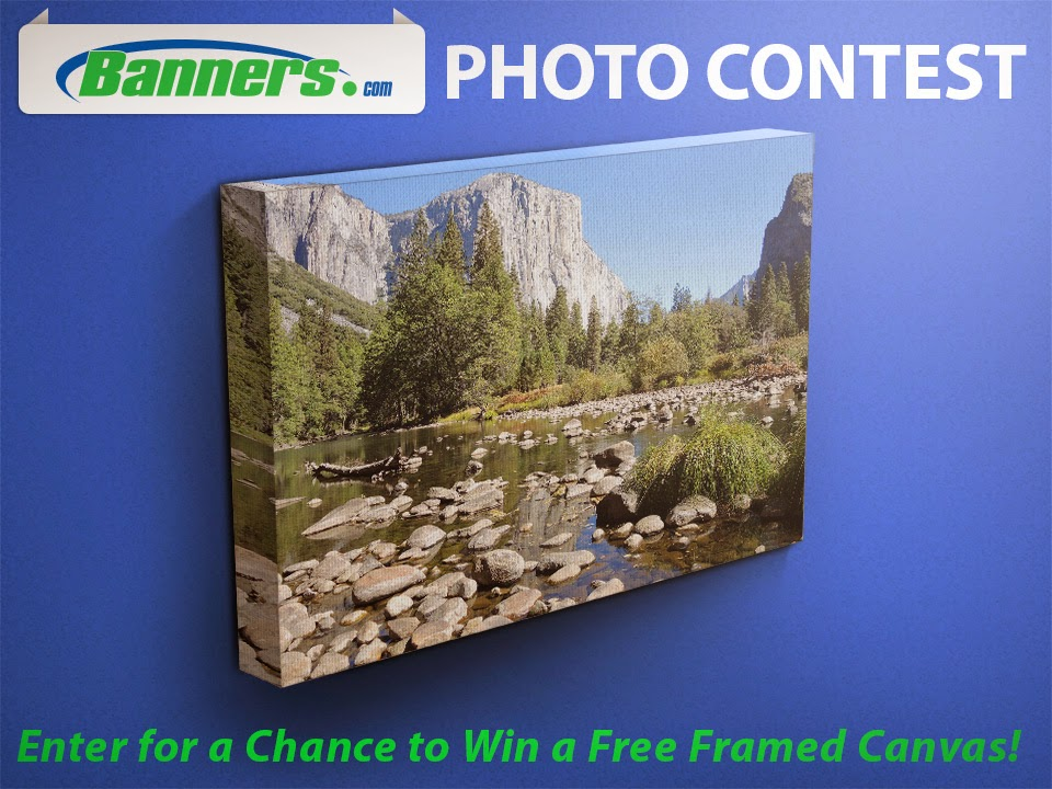 "Banners.com Photo Contest - Register to Win a Free 16"" x 20"" Framed Canvas"