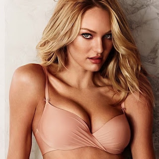 Candice Swanepoel Sexy Cleavage In Victoria's Secret Lingerie