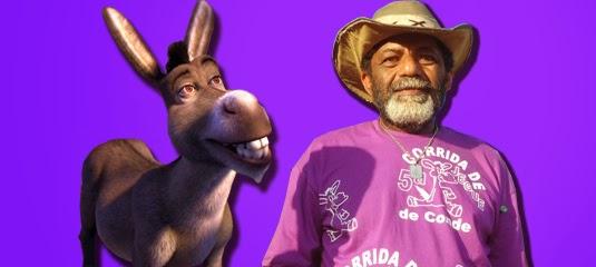 Resultado de imagem para lula o encantador de burro