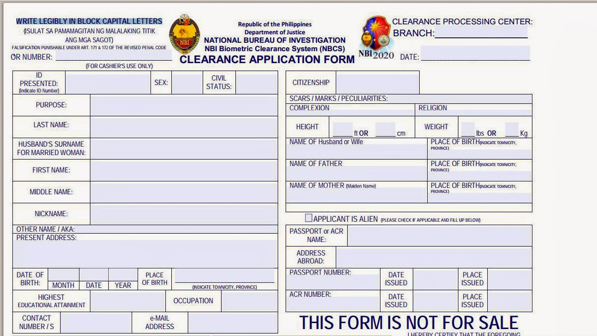 Tips In How To Apply NBI Clearance Easily | combinebasic