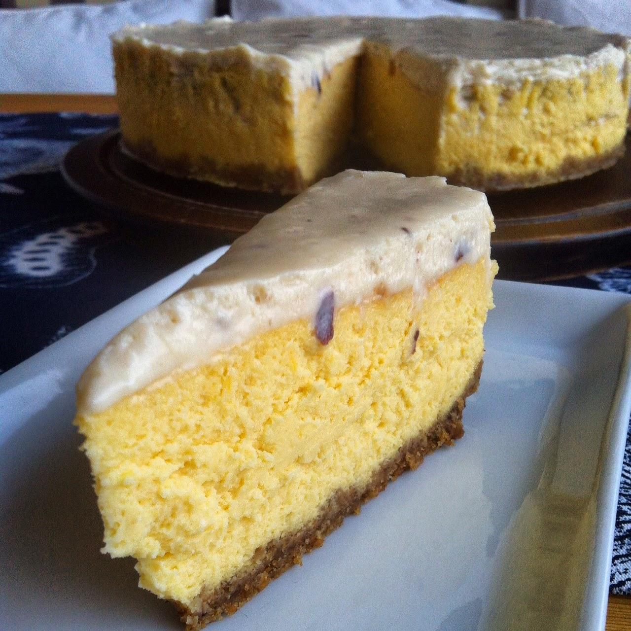 Beyaz Çikolata Soslu, Balkabaklı Cheesecake
