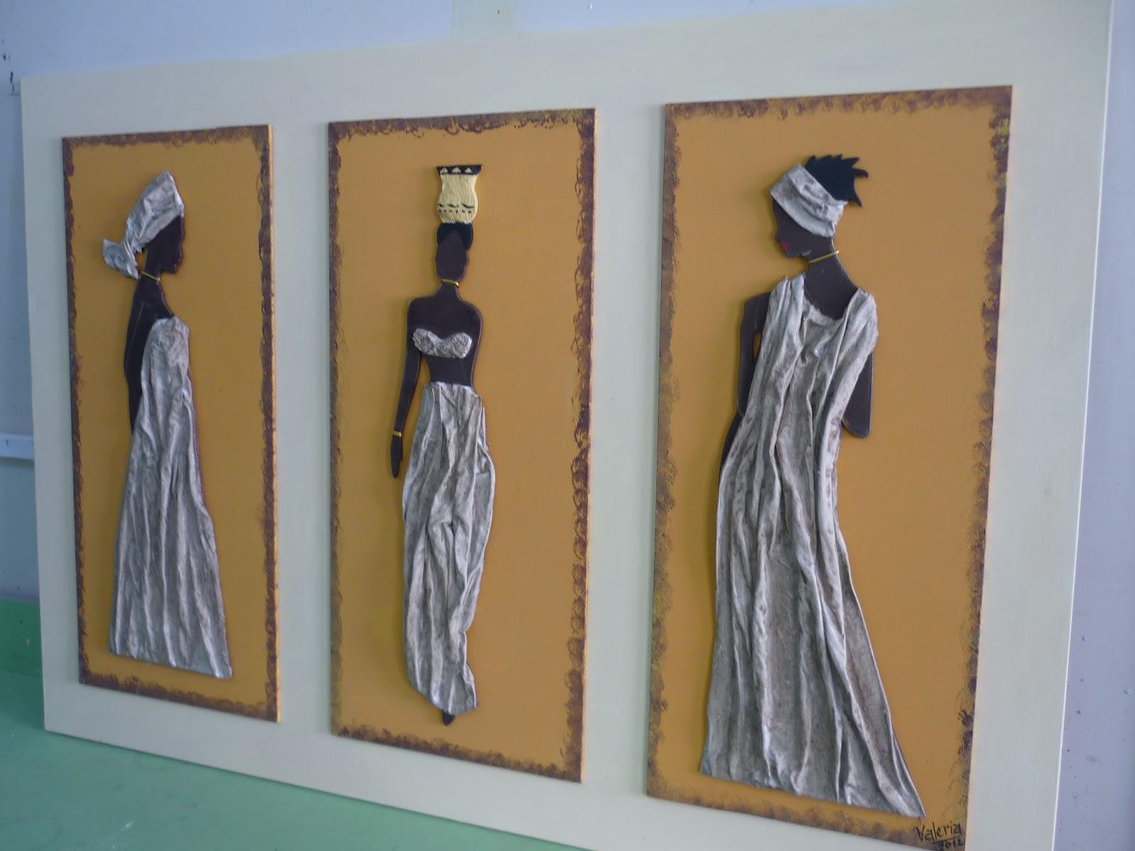 Cuadros modernos tripticos polipticos paisajes africanos - Cuadros tripticos ...