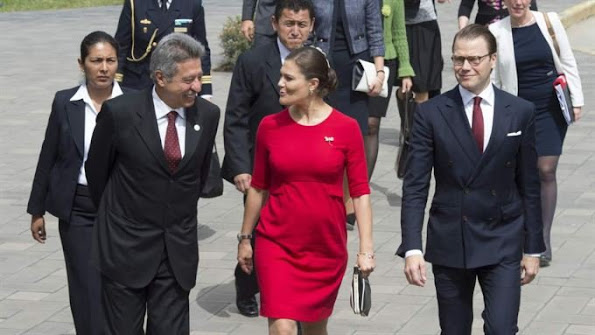 The Crown Princess couple is accompanied by Minister of Infrastructure Anna Johansson. The visit begin in Peru on 18 October and ends in Colombia on 23 October.
