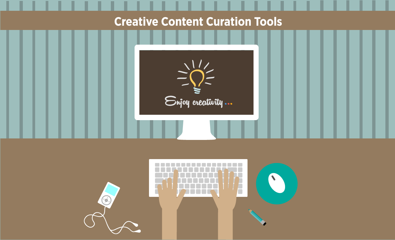 Creative Content Curation Tools for brands, businesses and compnaies - #infographic