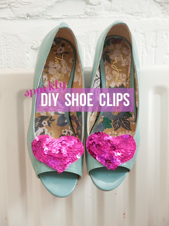 sparkly DIY shoe clips via Randomly Happy