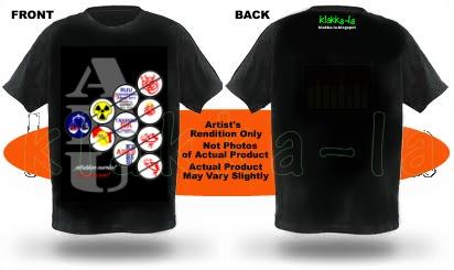 T-shirt Siri ABU: Jatuhkan mereka! Gambaran hadapan & belakang (ABU Series T-shirt: Bowl 'em over! Front & back illustration) www.klakka-la.blogspot