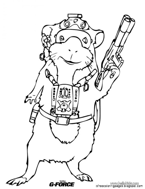 G-Force Coloring Pages   Free Coloring Pages