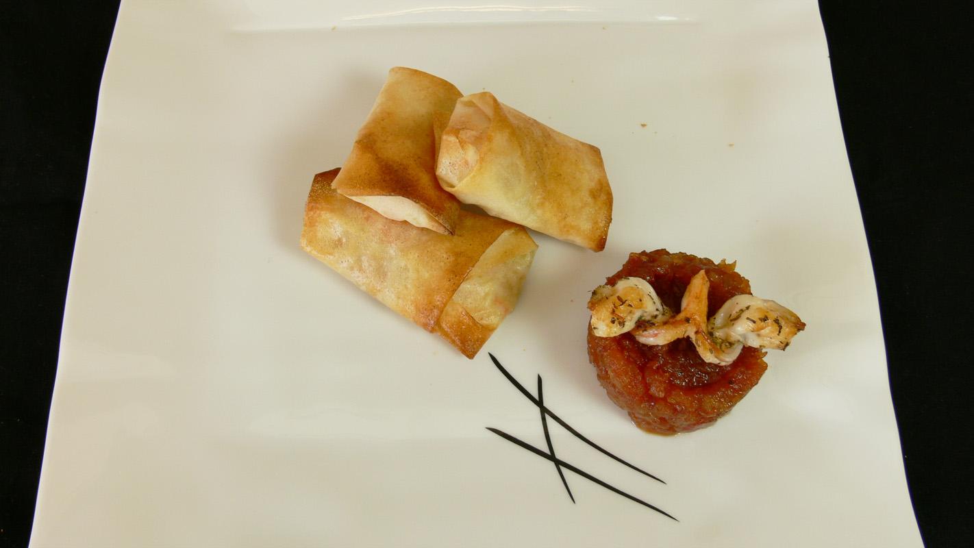 Cocinar para los amigos brick de langostinos y verduras - Que hacer con la pasta filo ...