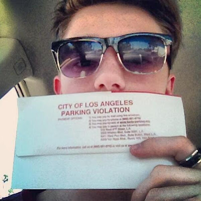 Poor Greyson Chance gets a parking ticket in L.A.