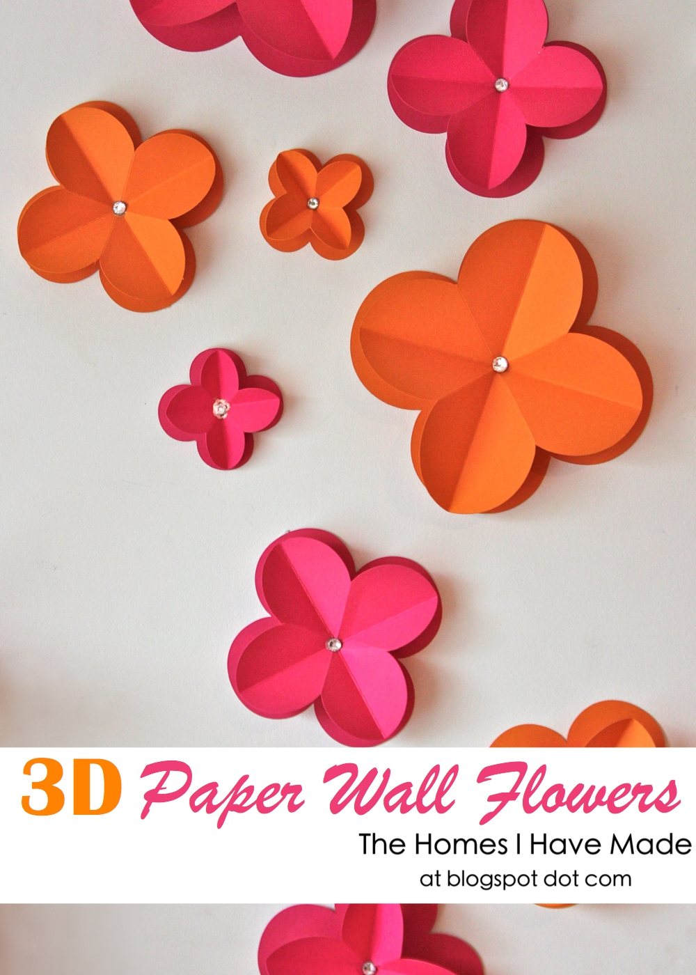 3d paper wall flowers the homes i have made simple but oh so effective 3d paper wall flowers over at positively splendid just in case you didnt pop over there for the how do details mightylinksfo Images