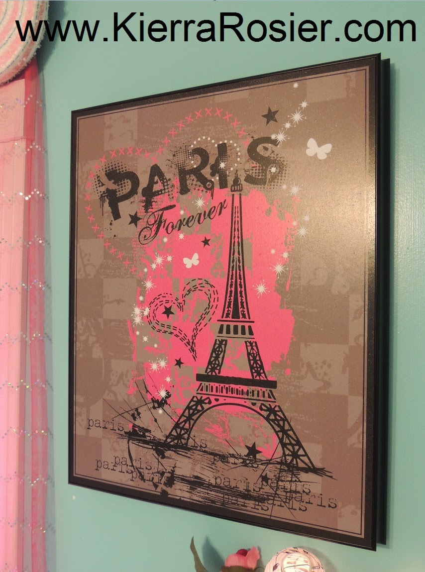kierra rosier paris room makeover eiffel tower themed bedroom