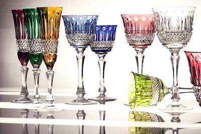 Renkli Kristal Mutfak Bardak ve Kadeh Modelleri