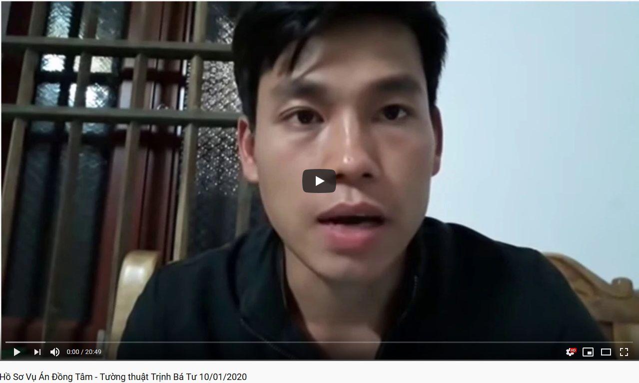 Hồ Sơ Vụ Án Ðồng Tâm 2 - Tường thuật Trịnh Bá Tư