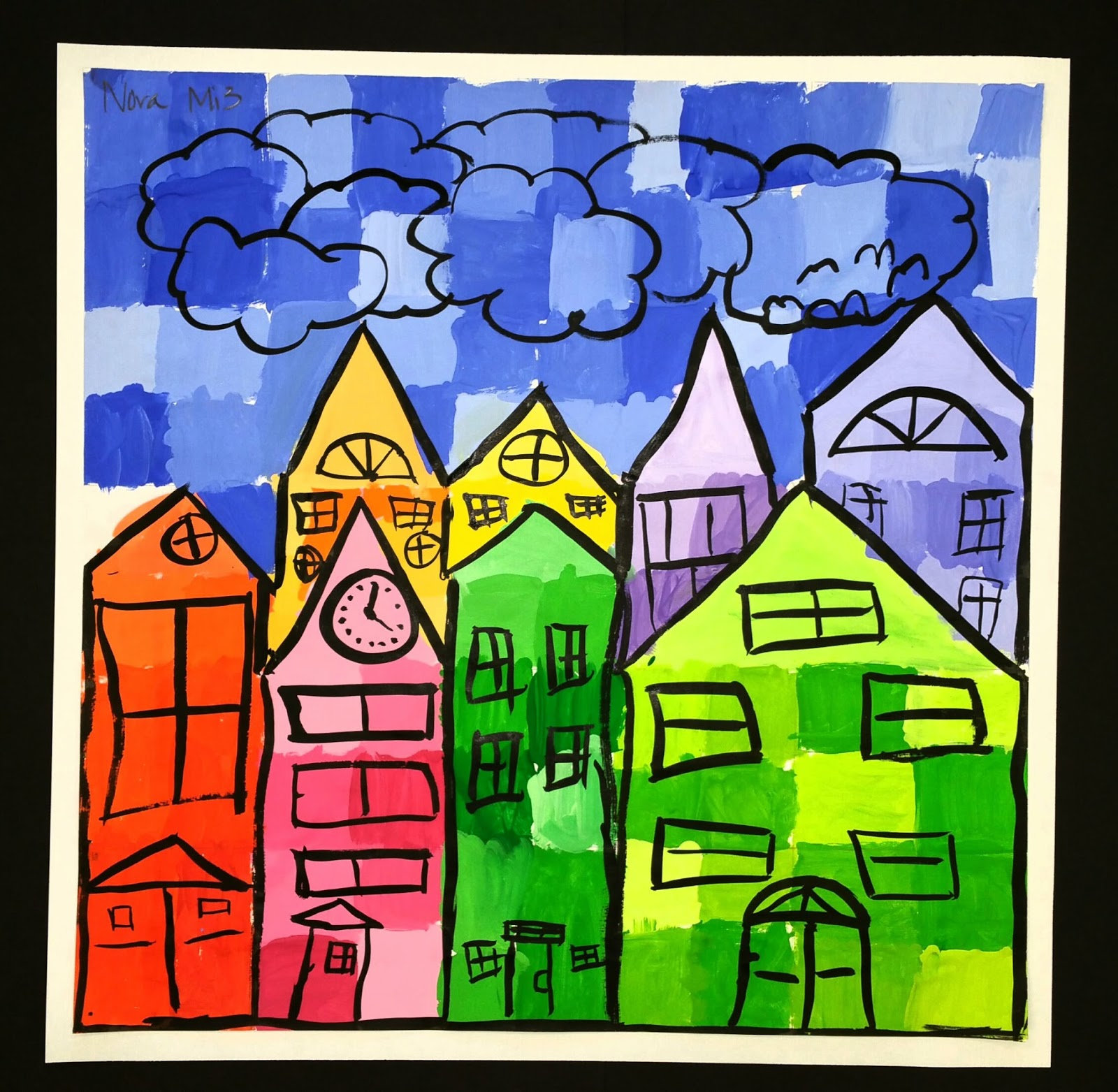 Paintbrush Rocket: Ton Schulten 3rd Grade Cityscapes