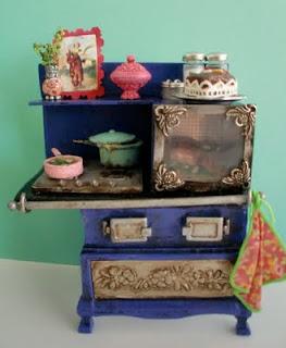 horno para cocina en miniatura