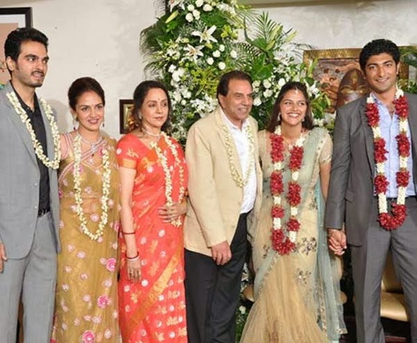 Ahana Deol With Vaibhav Vora with hema malini