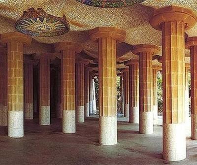 Parque Güell - Sala de las Columnas | Foto: gaudidesigner.com