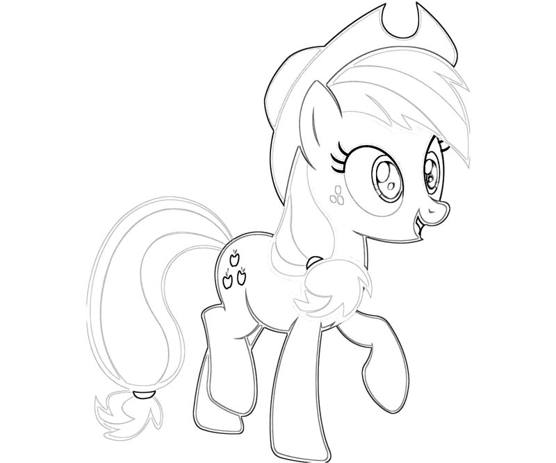 #23 My Little Pony Applejack Coloring Page