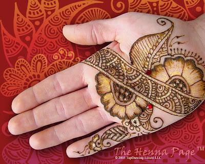 Glitter-Flower-Mehndi-Design