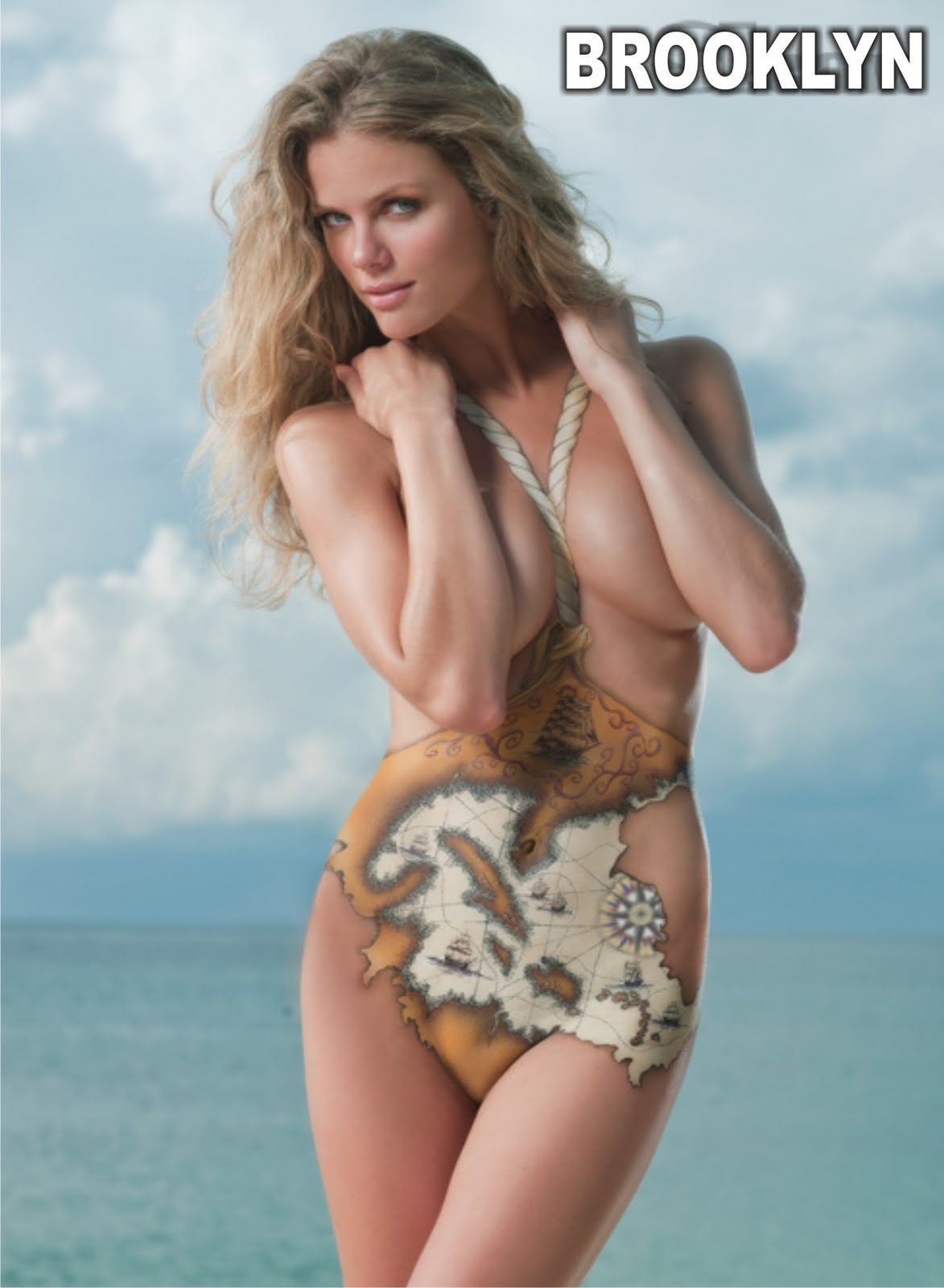 Brooklyn Decker Body Paint HOT GIRLS In BIKINI