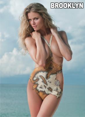 brooklyn decker body paint hot girls in bikini