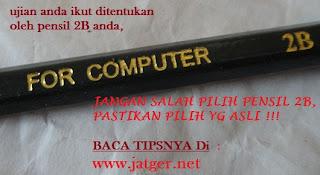 pensil 2B asli