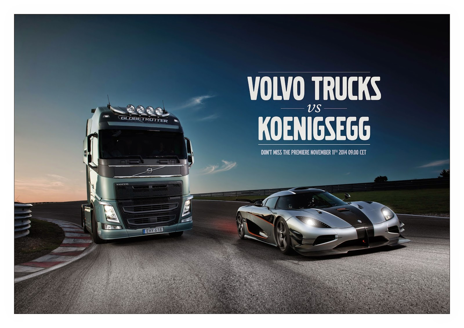 Teaser: Volvo Trucks Challenges One Of The Worldu0027s Fastest Sports Cars   A Koenigsegg  One