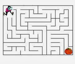 Halloween Maze printable - easy for kids 5