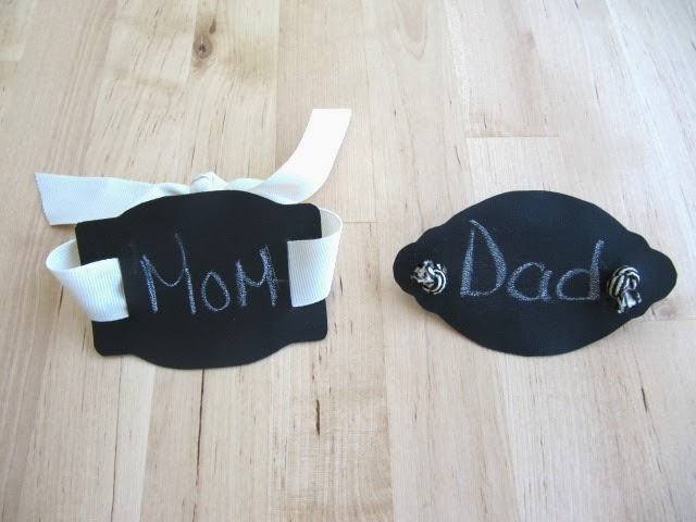 chalkboard napkin rings