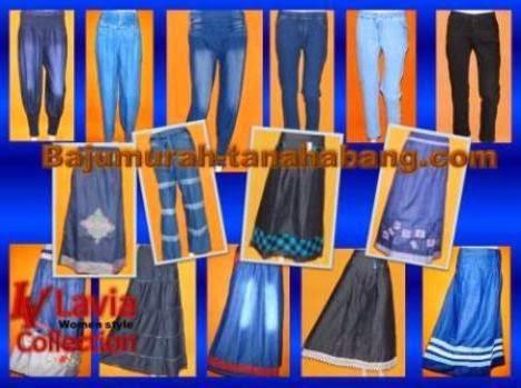 Proses pembuatan celana dan rok jeans