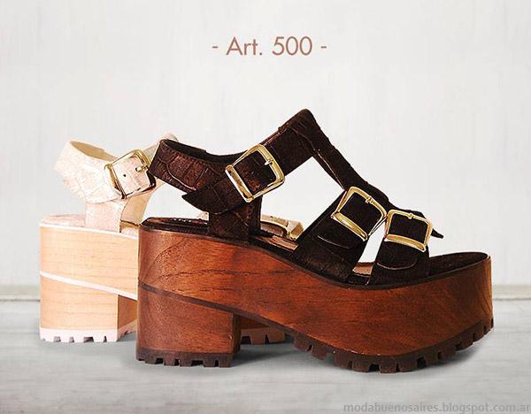 Sandalias AncaCo primavera verano 2015. Moda sandalias y zapatos 2015.