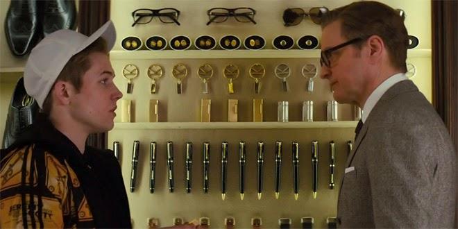 Taron Egerton (Gary 'Eggsy' Unwin) y Colin Firth (Harry Hart / Galahad)